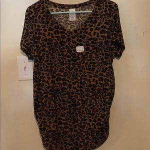 Leopard print maternity shirt